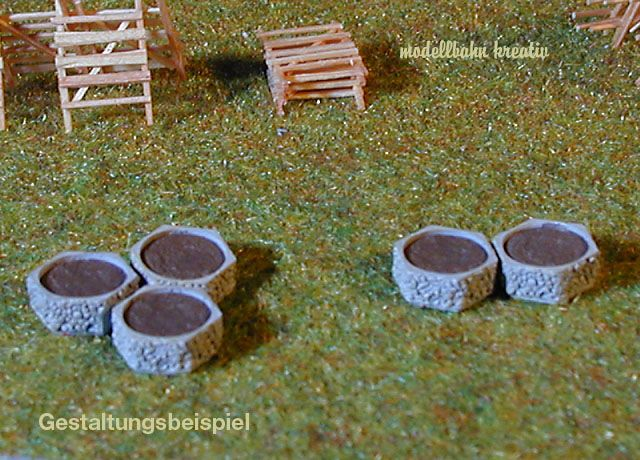 Pflanzringe Beton beton pflanzring modellbahn kreativshop